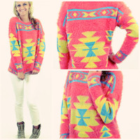 Phoenix Star Coral Tribal Sweater