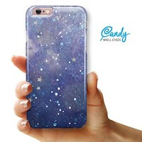 "Abstract Blue Grungy Stars iPhone 6 & iPhone 6s (4.7"" iPhone) Ultra Gloss Candy Shell Case"