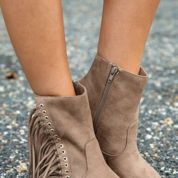 Cool Rider Booties-Taupe