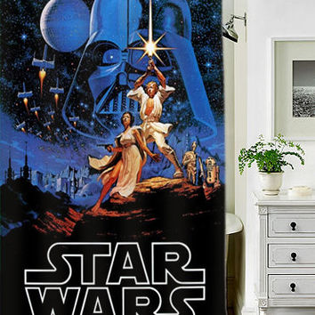 Retro Star Wars custom shower curtains that will make your bathroom adorable