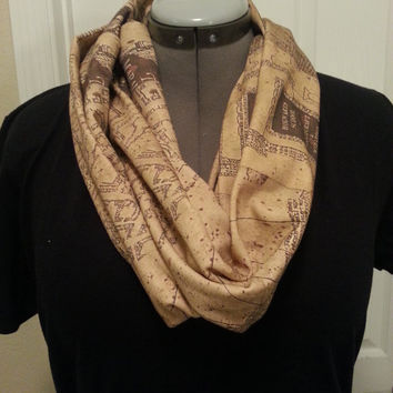 Marauder's Map Infinity KNIT scarf - made to order