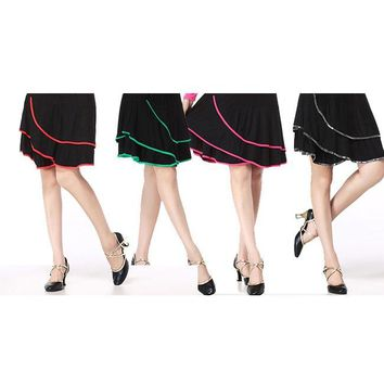 Dancing dress skirt Modal cultivate one's morality comfortable stretch for fitness Breathable yoga lesson skirt dance perf