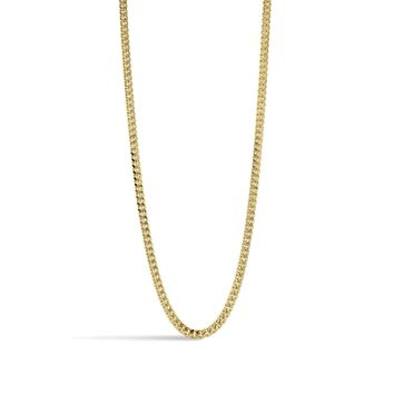 Ares- Flat Curb Link Chain Necklace