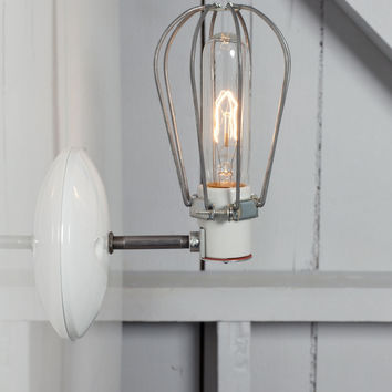 Industrial Wall Lamp - Wire Cage Wall Sconce Lamp