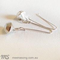 FACETED EARRINGS by Meena Song Jewellery