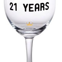 Cheers to 21st Birthday Wine Glass
