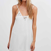 Minkpink Atlanta Lace Trim Dress in White - Urban Outfitters