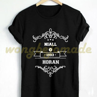 Niall Horan 1993 Shirt Black Grey Maroon and White Color Tshirt