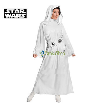 2016 new Star Wars Costume Princess Leia Cosplay Costume Custom Made girls clothes female Dress with belt women children Uniform
