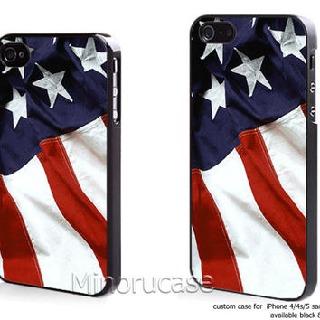 american flag Custom case For iphone 4/4s,iphone 5,Samsung Galaxy S3,Samsung Galaxy S4 by minorucase on etsy