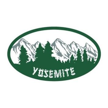 YOSEMITE N.P. STICKER (OVAL)