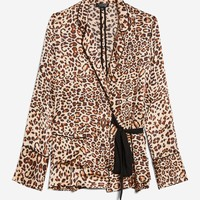 PETITE Animal Print Wrap Pyjama Shirt