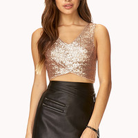 Bombshell Sequined Crop Top
