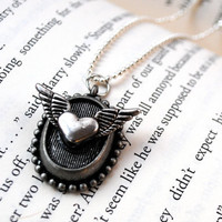 Heart Wings Necklace by KellyStahley on Etsy