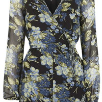 Floral Playsuit By Band Of Gypsies - Topshop