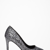 Pointed Glitter Pumps