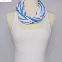 UNC T-shirt Infinity Scarf - Carolina Blue & White Mix