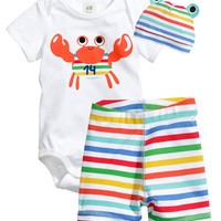 3PCS Cartoon Baby clothing Set Cotton Newborn Baby Romper Kids costume Infant Girls Boys clothes set Summer