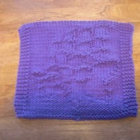 Purple Dutch Field Tulip Cloth | hollyknittercreations - Knitting on ArtFire