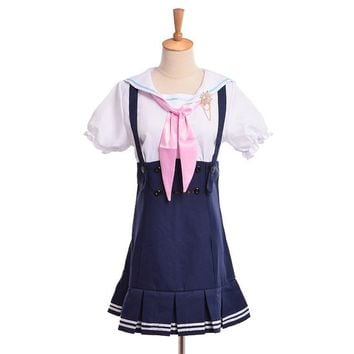Nozomi Tojo Navy Sailor Suit Dress Costume Anime Love Live Cosplay Casual Wear