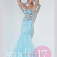 Strapless Sweetheart Studio 17 Formal Prom Gown 12528