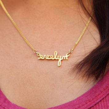 ON SALE Hello February SALE - Personalized Name Necklace - Dainty Necklace - Any font available -Valentines Gift - Ships in 1-2 Weeks