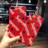 High Quality LV* Supreme Print  Iphone X 8 8 Plus/7 7 Plus/ 6 6s Plus Cover Case