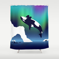 Paper Craft Orca Shower Curtain by Steel Graphics | Society6
