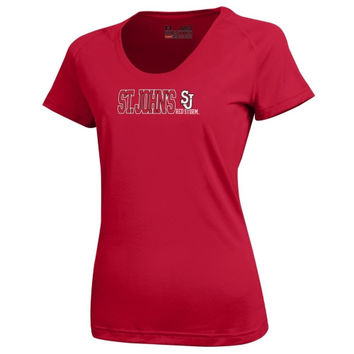 St. Johns Red Storm Under Armour Womens Tech Performance T-Shirt – Red