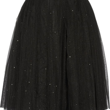 Ryan Lo - Glitter-finished tulle skirt