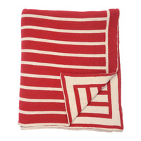 Red Beach Stripes Throw