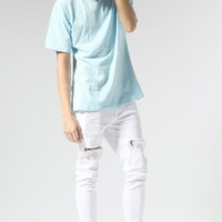 Pastel Ice Cream Color Zipper Tee