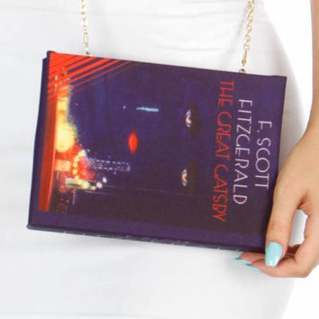 The Great Gatsby Book Clutch  Purse