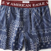 AEO Men's Global Print Boxer (Blue)