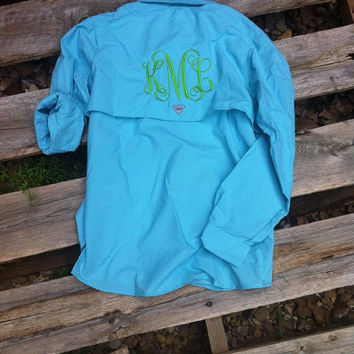 Monogrammed Fishing Shirt - Columbia PFG Women's Bahama Long Sleeve