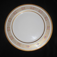"Limoges Dinner Plate (s) Charger 11"" Wm. Guerin Pink Rosebuds Gold Gilt 1930's Home Entertaining Fine Dining"