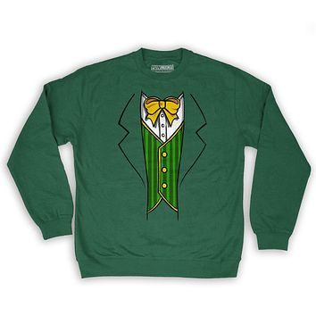 Function St.Patrick's Day Leprechaun Costume Men's Fashion Crew Neck Sweatshirt