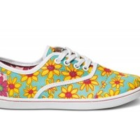 TOMS Shoes Yellow Daisy Cordones Lace-Up Sneakers Shoes