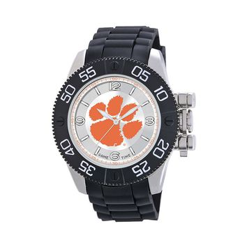 Game Time Beast Series Clemson Tigers Stainless Steel Watch - COL-BEA-CLE - Men (Black)