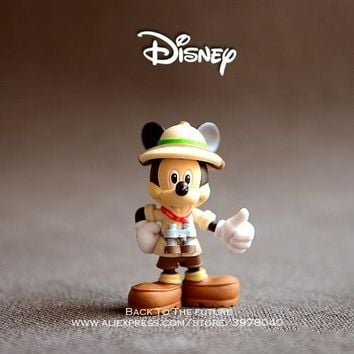 Disney Mickey Mouse expedition 9cm Action Figure Posture Anime Decoration Collection Figurine Toy model for children gift