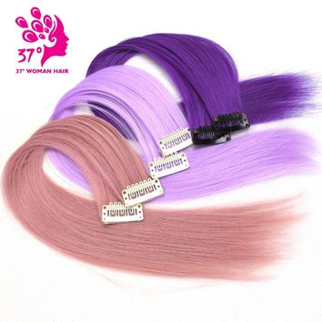 "Dream ice's 10pcs/lot Clip-in One Piece for Ombre Hair Extensions 16""40cm Pure Color Straight Long Synthetic Hair"