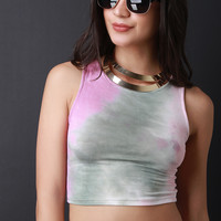 Tie Dye Sleeveless Crop Top