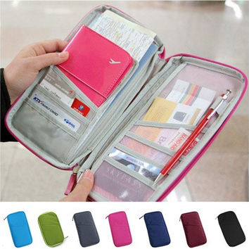 Passport Credit ID Card Holder Cash Organizer Bag Purse Wallet [10198254599]