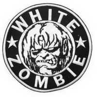 "WHITE ZOMBIE Heavy Metal Big XL Embroidered Back Patch 7.9""/20cm"