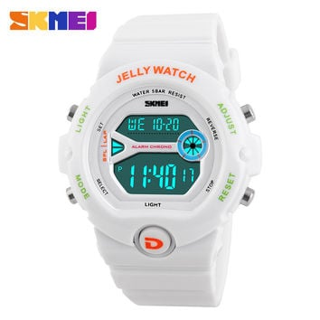 2016 SKMEI Sport Womens Watches Led Digital clock Alarm Date Chronograph Watch Fashion Casual Students Female Wristwatches