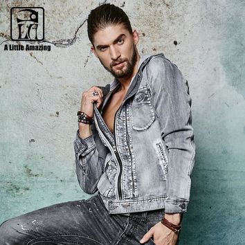2016 New Denim jacket Men Jeans Coats Spring Brand Hooded Denim Coat Men Outwear Male S-3XL