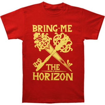 Bring Me The Horizon Men's  Keys T-shirt Red Rockabilia