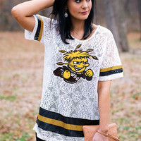 Wichita State Shockers oversized crochet jersey
