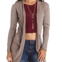 Slouchy Pocket Long Sleeve Cardigan Sweater