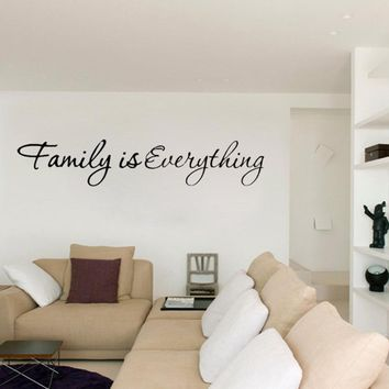 Family is Everything Removable Art Wall Sticker